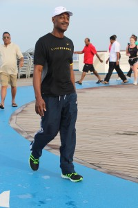 Marlon walkin on water